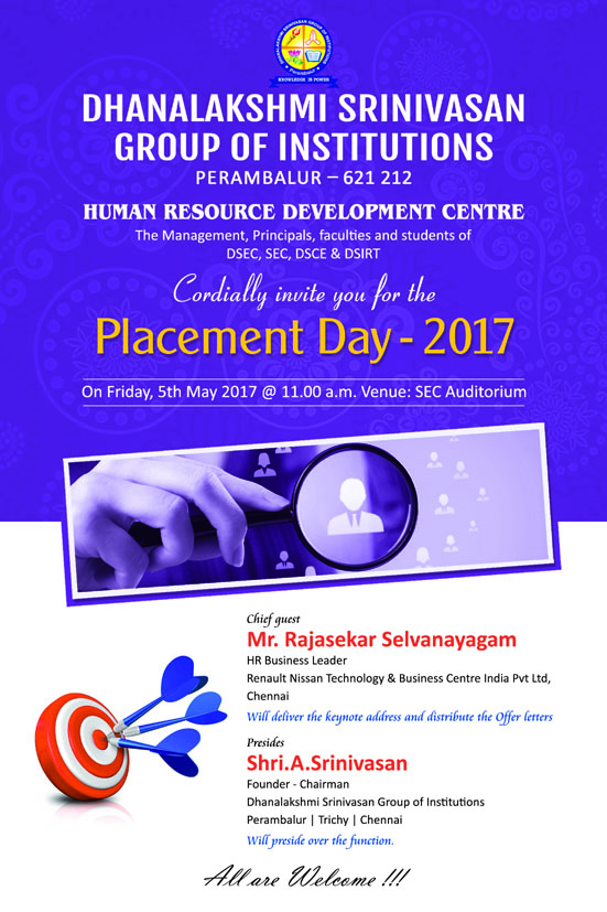 Welcome to the Dhanalakshmi Srinivasan Group of Institutions